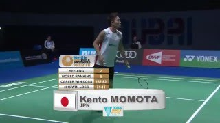 【Video】Kento MOMOTA VS Viktor AXELSEN, Dubai World Superseries Finals 2015 finals