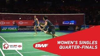 【Video】Carolina MARIN VS Akane YAMAGUCHI, YONEX All England Open 2018 quarter finals