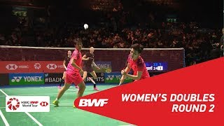 【Video】Kamilla Rytter JUHL・Christinna PEDERSEN VS DU Yue・LI Yinhui, YONEX All England Open 2018 best 16