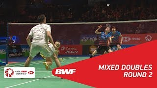 【Video】Chris ADCOCK・Gabrielle ADCOCK VS SEO Seung Jae・KIM Ha Na, YONEX All England Open 2018 best 16