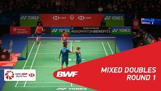 【Video】Chris ADCOCK・Gabrielle ADCOCK VS GOH Soon Huat・Shevon Jemie LAI, YONEX All England Open 2018 best 32