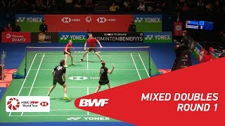 【Video】Mathias CHRISTIANSEN・Christinna PEDERSEN VS Mark LAMSFUSS・Isabel HERTTRICH, YONEX All England Open 2018 best 32