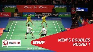 【Video】Marcus ELLIS・Chris LANGRIDGE VS ATTRI Manu・REDDY B. Sumeeth, YONEX All England Open 2018 best 32