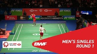 【Video】Hans-Kristian Solberg VITTINGHUS VS LIN Dan, YONEX All England Open 2018 best 32