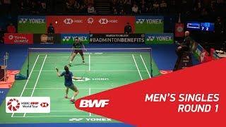 【Video】Brice LEVERDEZ VS KIDAMBI Srikanth, YONEX All England Open 2018 best 32