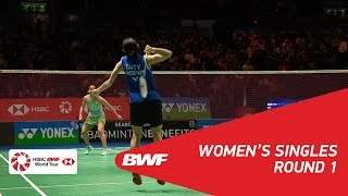 【Video】TAI Tzu Ying VS Saina NEHWAL, YONEX All England Open 2018 best 32