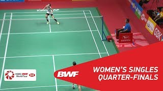 【Video】Nozomi OKUHARA VS Ratchanok INTANON, DAIHATSU Indonesia Masters 2018 quarter finals