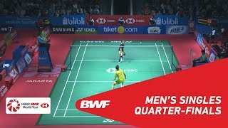 【Video】LEE Chong Wei VS Kantaphon WANGCHAROEN, BLIBLI Indonesia Open 2018 quarter finals