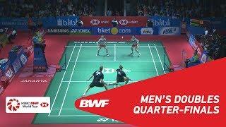 【Video】Marcus Fernaldi GIDEON・Kevin Sanjaya SUKAMULJO VS Mads CONRAD-PETERSEN・Mads Pieler KOLDING, BLIBLI Indonesia Open 2018 qu