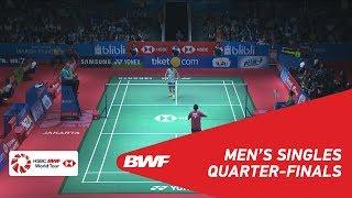 【Video】Tommy SUGIARTO VS Kento MOMOTA, BLIBLI Indonesia Open 2018 quarter finals