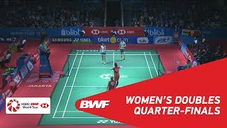 【Video】Yuki FUKUSHIMA・Sayaka HIROTA VS Greysia POLII・Apriyani RAHAYU, BLIBLI Indonesia Open 2018 quarter finals