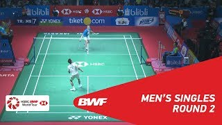 【Video】Anders ANTONSEN VS LEE Chong Wei, BLIBLI Indonesia Open 2018 best 16
