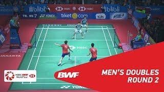 【Video】Marcus Fernaldi GIDEON・Kevin Sanjaya SUKAMULJO VS ONG Yew Sin・TEO Ee Yi, BLIBLI Indonesia Open 2018 best 16
