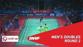 【Video】Berry ANGRIAWAN・Hardianto HARDIANTO VS Kim ASTRUP・Anders Skaarup RASMUSSEN, BLIBLI Indonesia Open 2018 best 16