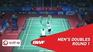 【Video】Mads CONRAD-PETERSEN・Mads Pieler KOLDING VS CHEN Hung Ling・WANG Chi-Lin, BLIBLI Indonesia Open 2018 best 32