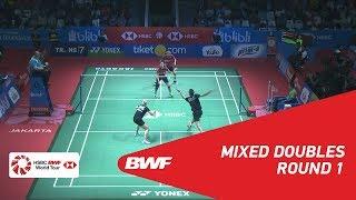 【Video】Joachim FISCHER NIELSEN・Alexandra BØJE VS Ronald RONALD・Annisa SAUFIKA, BLIBLI Indonesia Open 2018 best 32