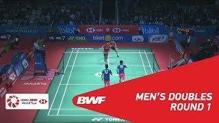 【Video】Ricky KARANDASUWARDI・Angga PRATAMA VS HE Jiting・TAN Qiang, BLIBLI Indonesia Open 2018 best 32
