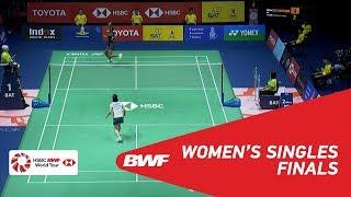 【Video】Nozomi OKUHARA VS PUSARLA V. Sindhu, TOYOTA Thailand Open 2018 finals