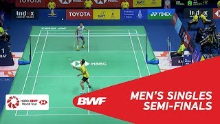 【Video】Kanta TSUNEYAMA VS Sony Dwi KUNCORO, TOYOTA Thailand Open 2018 semifinal