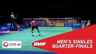 【Video】Tommy SUGIARTO VS Kantaphon WANGCHAROEN, TOYOTA Thailand Open 2018 quarter finals