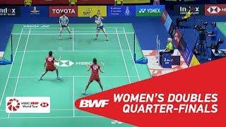 【Video】Jongkolphan KITITHARAKUL・Rawinda PRAJONGJAI VS Yuki FUKUSHIMA・Sayaka HIROTA, TOYOTA Thailand Open 2018 quarter finals