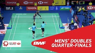 【Video】Takeshi KAMURA・Keigo SONODA VS LIAO Min Chun・SU Ching Heng, TOYOTA Thailand Open 2018 quarter finals