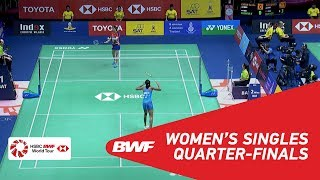 【Video】Soniia CHEAH VS PUSARLA V. Sindhu, TOYOTA Thailand Open 2018 quarter finals