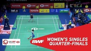 【Video】Akane YAMAGUCHI VS Beiwen ZHANG, TOYOTA Thailand Open 2018 quarter finals