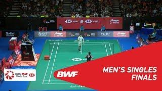 【Video】CHOU Tien Chen VS HSU Jen Hao, Singapore Open 2018 finals
