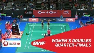 【Video】Jongkolphan KITITHARAKUL・Rawinda PRAJONGJAI VS TANG Jinhua・YU Xiaohan, Singapore Open 2018 quarter finals