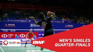 【Video】Anthony Sinisuka GINTING VS CHEN Long, VICTOR China Open 2018 quarter finals