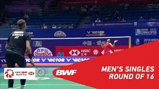 【Video】CHEN Long VS Jan O JORGENSEN, VICTOR China Open 2018 best 16