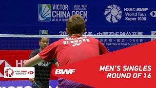 【Video】Viktor AXELSEN VS Anthony Sinisuka GINTING, VICTOR China Open 2018 best 16
