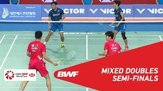 【Video】HE Jiting・DU Yue VS Dechapol PUAVARANUKROH・Sapsiree TAERATTANACHAI, VICTOR Korea Open 2018 semifinal