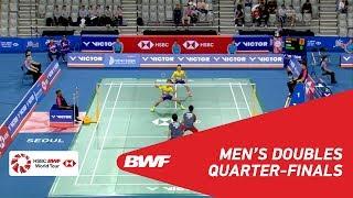 【Video】Hiroyuki ENDO・Yuta WATANABE VS Aaron CHIA・Wooi Yik SOH, VICTOR Korea Open 2018 quarter finals