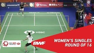 【Video】Gregoria Mariska TUNJUNG VS Mia BLICHFELDT, DANISA Denmark Open 2018 best 16