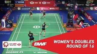 【Video】Yuki FUKUSHIMA・Sayaka HIROTA VS Maiken FRUERGAARD・Sara THYGESEN, DANISA Denmark Open 2018 best 16