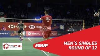 【Video】CHOU Tien Chen VS LEE Dong Keun, DANISA Denmark Open 2018 best 32