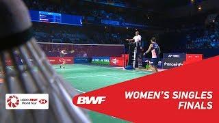 【Video】TAI Tzu Ying VS Akane YAMAGUCHI, YONEX French Open 2018 finals