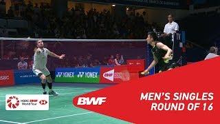 【Video】CHEN Long VS Jan O JORGENSEN, YONEX French Open 2018 best 16