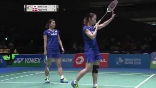 【Video】Christinna PEDERSEN・Kamilla Rytter JUHL VS Misaki MATSUTOMO・Ayaka TAKAHASHI, YONEX Open Japan finals