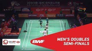 【Video】HE Jiting・TAN Qiang VS Mohammad AHSAN・Hendra SETIAWAN, Fuzhou China Open 2018 semifinal
