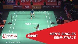 【Video】Kento MOMOTA VS CHEN Long, Fuzhou China Open 2018 semifinal