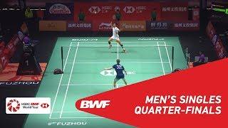 【Video】Anders ANTONSEN VS CHEN Long, Fuzhou China Open 2018 quarter finals