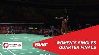 【Video】PUSARLA V. Sindhu VS HE Bingjiao, Fuzhou China Open 2018 quarter finals