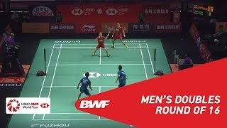 【Video】Kim ASTRUP・Anders Skaarup RASMUSSEN VS HAN Chengkai・ZHOU Haodong, Fuzhou China Open 2018 best 16