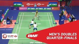 【Video】Marcus Fernaldi GIDEON・Kevin Sanjaya SUKAMULJO VS KIM Gi Jung・LEE Yong Dae, YONEX-SUNRISE Hong Kong Open 2018 quarter fin