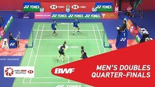 【Video】Mohammad AHSAN・Hendra SETIAWAN VS Kim ASTRUP・Anders Skaarup RASMUSSEN, YONEX-SUNRISE Hong Kong Open 2018 quarter finals