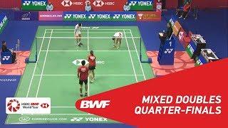 【Video】WANG Yilyu・HUANG Dongping VS Praveen JORDAN・Melati Daeva OKTAVIANTI, YONEX-SUNRISE Hong Kong Open 2018 quarter finals