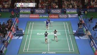 【Video】Misaki MATSUTOMO・Ayaka TAKAHASHI VS Jongkolphan KITITHARAKUL・Rawinda PRAJONGJAI, YONEX Open Japan quarter finals